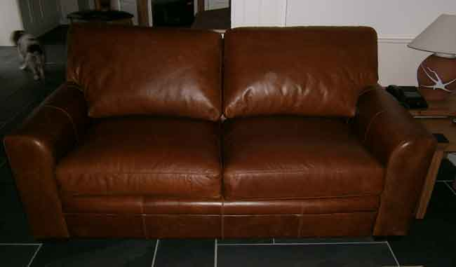 Cushion re-padding and leather conditioning AFTER
